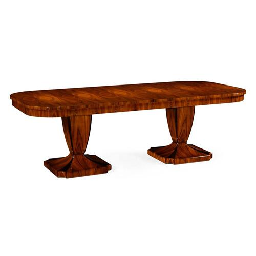 Double pedestal dining table - high sheen