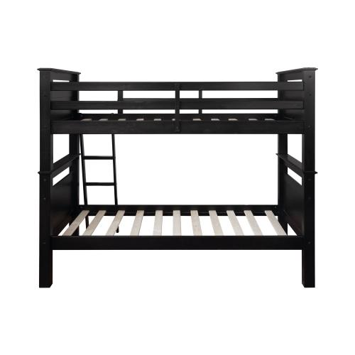 Twin Over Twin Bunk Bed, White
