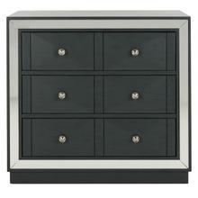 See Details - Sloane 3 Drawer Chest - Steel Teal / Nickel / Mirror