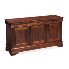 "Louis Philippe Console Cabinet, Louis Philippe Console Cabinet, 60"" , Unfinished"