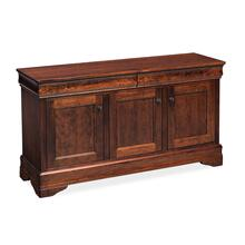 "Louis Philippe Console Cabinet, Louis Philippe Console Cabinet, 54"", Unfinished"