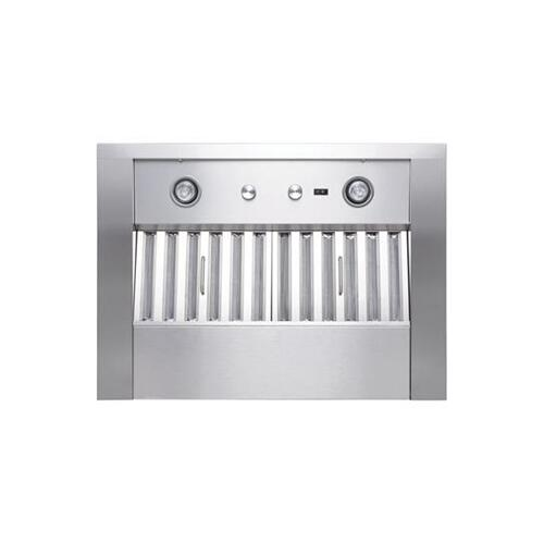 "UP26 - 36"" Stainless Steel Pro-Style Range Hood with internal/external blower options 300 to 1650 Max CFM"