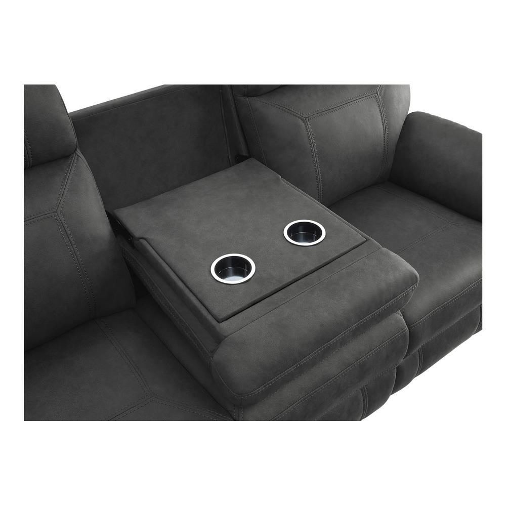 Double Reclining Sofa with Drop-Down Cup Holders