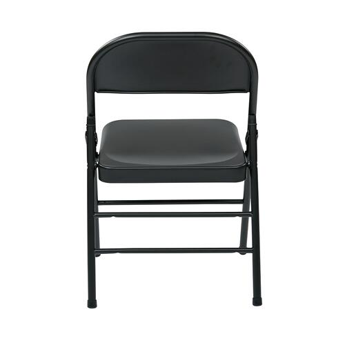Folding Chair With Metal Seat and Back