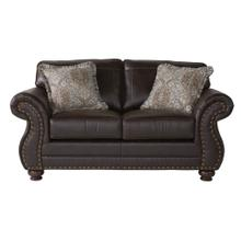 See Details - Leinster Faux Leather Upholstered Nailhead Loveseat in Espresso