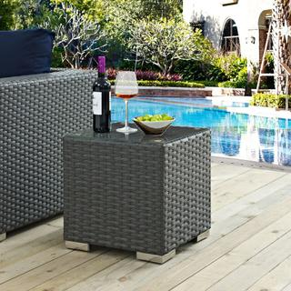Sojourn Outdoor Patio Side Table in Chocolate
