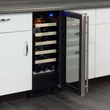 "See Details - 15"" Standard Efficiency Single Zone Wine Cellar - Stainless Frame Glass Door* - Left Hinge"