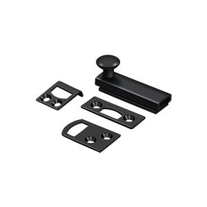 """Deltana - 2"""" Surface Bolt, Concealed Screw, HD - Paint Black"""