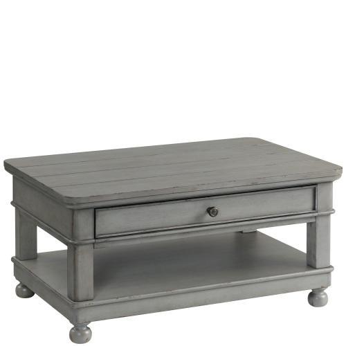 Bella Grigio - Small Coffee Table - Chipped Gray Finish