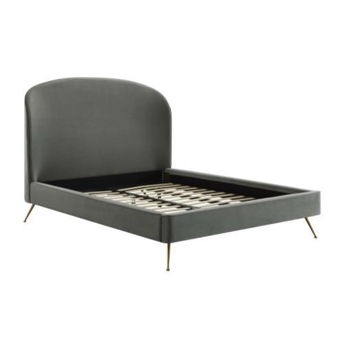 Product Image - Vivi Grey Velvet Bed in King
