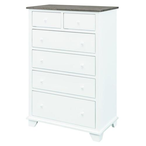 Portland 6 Drawer Chest Solid Color