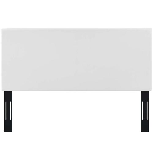 Modway - Taylor King and California King Upholstered Faux Leather Headboard in White