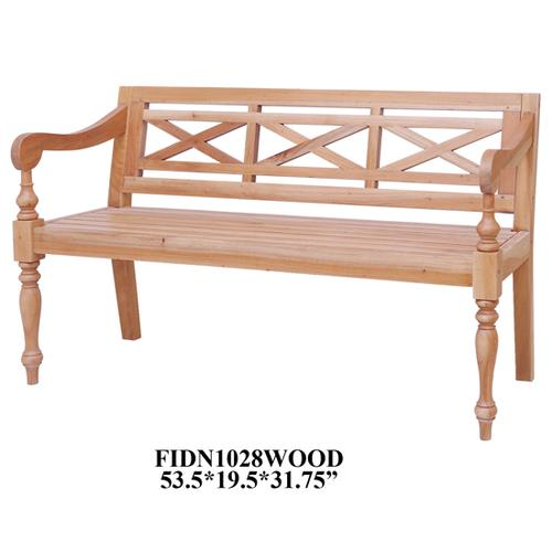 """Crestview Collections - 53.5X20X32""""H BENCH 3 SEATER, 1PC KD PK/ 4.15'"""
