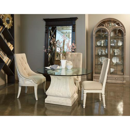 """Arch Salvage Leoni Round Dining with 54"""" Glass Top"""