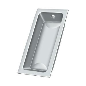 "Flush Pull, Large, 3-5/8"" x 1-3/4"" x 1/2"" - Polished Chrome"