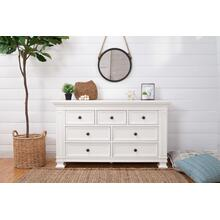 Classic Double-Wide Dresser in Warm White