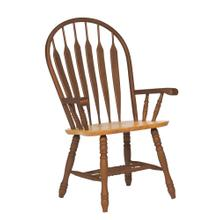 DLU-4130-NLO-A  Comfort Dining Arm Chair in Nutmeg Light Oak