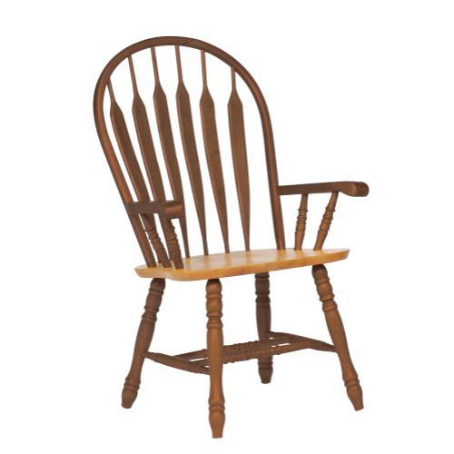 Comfort Dining Arm Chair - Nutmeg Light Oak