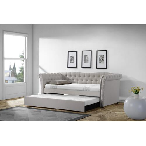 Emerald Home Arabella Trundle Day Bed Beige B712-19-k