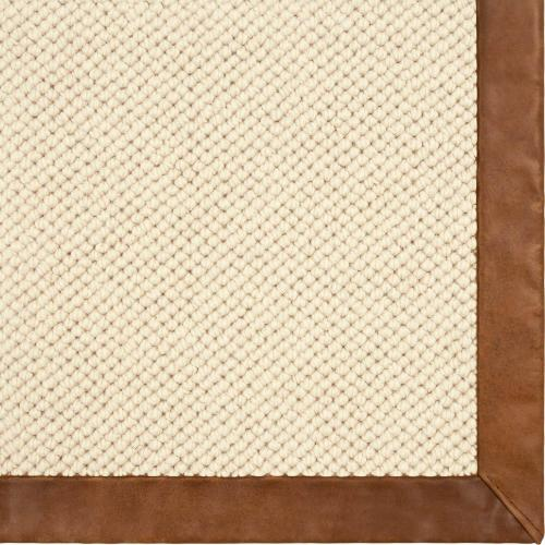 Venus Barley 2'x8' Runner / Leather Border