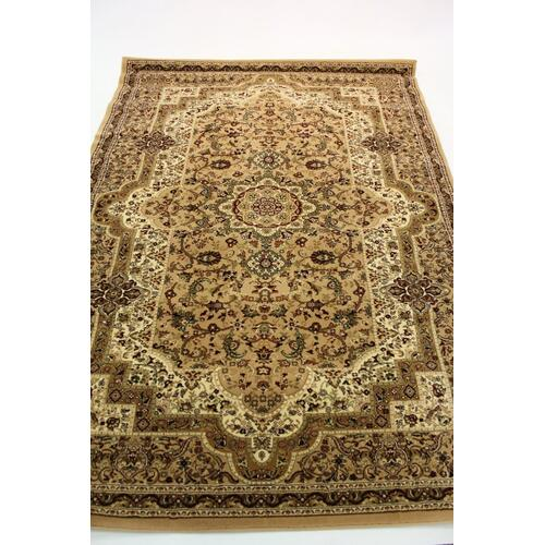 "Persian Design 1 Million Point Heatset Monalisa T06 Area Rugs by Rug Factory Plus - 2'8"" x 10' / Beige"