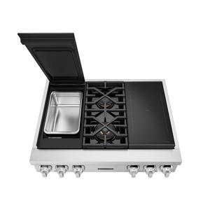 Signature Kitchen Suite36-inch Dual-Fuel Pro Rangetop with Sous Vide and Induction