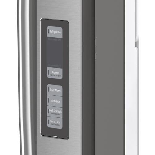 GE® Energy Star® 27.0 Cu. Ft. French-Door Refrigerator Fingerprint Resistant Stainless Steel - GNE27EYMFS