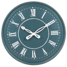Blue Wall Clock with Ornate Hands Product Image