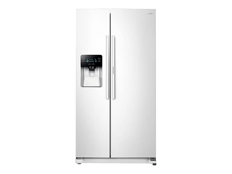 Samsung25 Cu. Ft. Food Showcase Side-By-Side Refrigerator With Metal Cooling In White