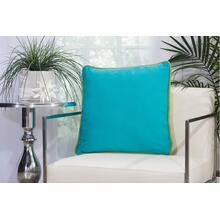 "Outdoor Pillows L1589 Green/tur 20"" X 20"" Throw Pillow"