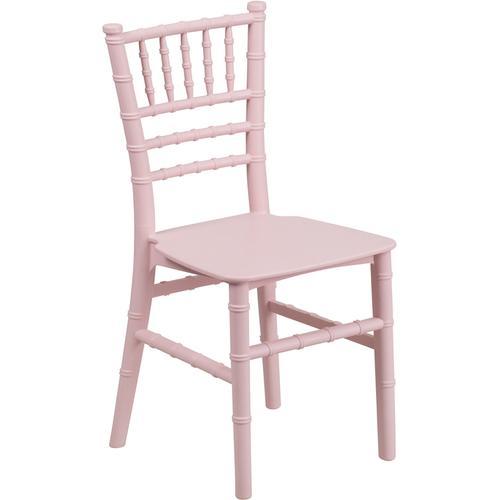 Flash Furniture - Kids Pink Resin Chiavari Chair