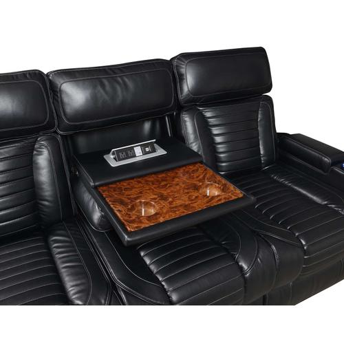 Gallery - Lavon Dual-Power Leatherette Reclining Sofa