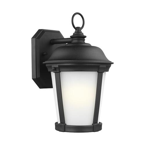 Calder Medium One Light Outdoor Wall Lantern Black Bulbs Inc