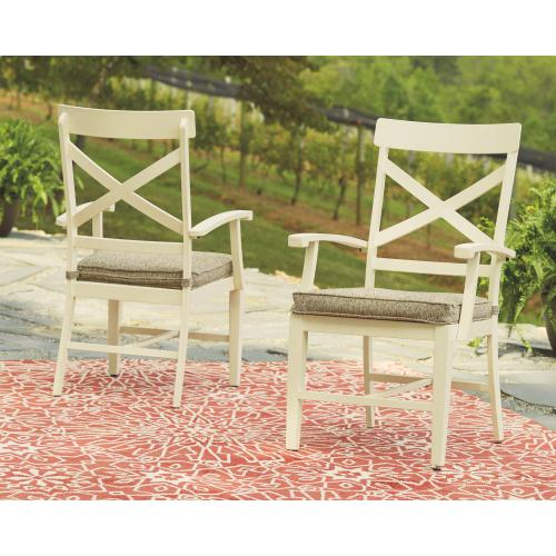 Preston Bay Arm Chair With Cushion (set of 2)