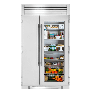 True Residential48 Inch Stainless Glass Door Side-by-Side