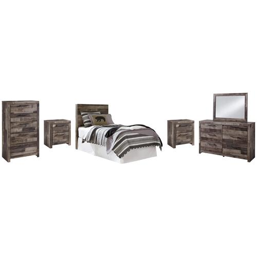 Ashley - Twin Panel Headboard With Mirrored Dresser, Chest and 2 Nightstands