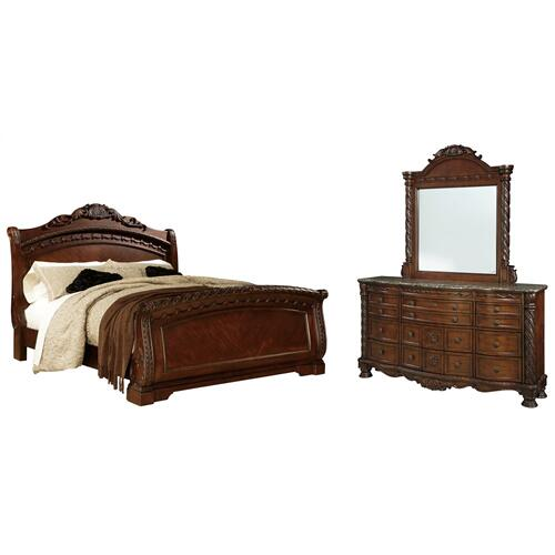 Ashley - Queen Sleigh Bed With Mirrored Dresser