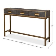 See Details - Shagreen Console Table, Antique Grey