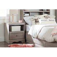 1-Drawer Nightstand - End Table with Storage - Sand Oak