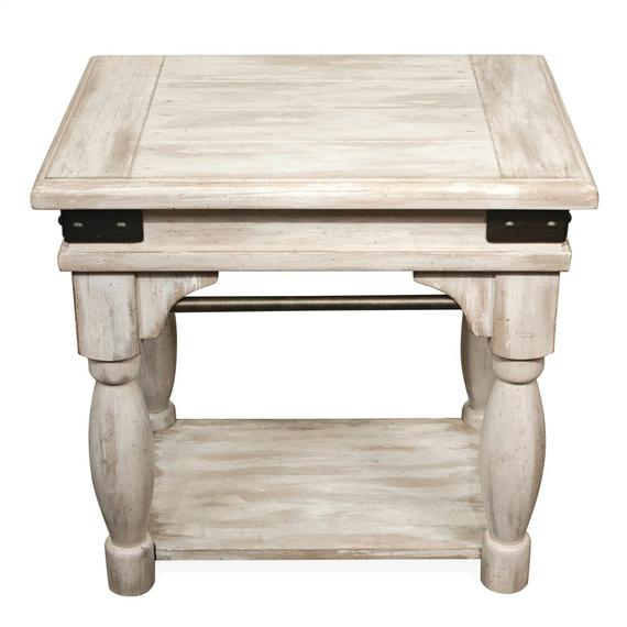 Riverside - Regan - Chairside Table - Farmhouse White Finish