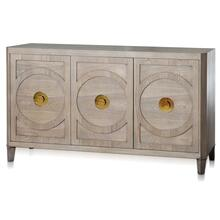 BROOKS SIDEBOARD  64in w. X 37in ht. X 18in d.  Three Door Buffet Cabinet made of Straight Grain A