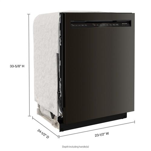 44 dBA Dishwasher in PrintShield Finish with FreeFlex Third Rack - Black Stainless Steel with PrintShield™ Finish