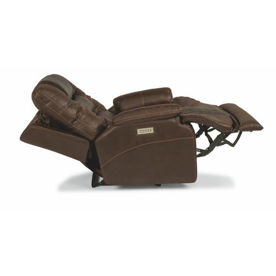 Flexsteel - Dakota Power Recliner with Power Headrest and Lumbar