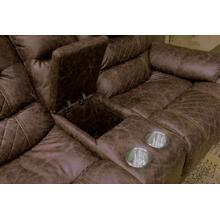 See Details - Power Lay Flat Recl Cnsl Loveseat w/Storage & Cupholders