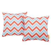 Modway Two Piece Outdoor Patio Pillow Set in Zig Zag