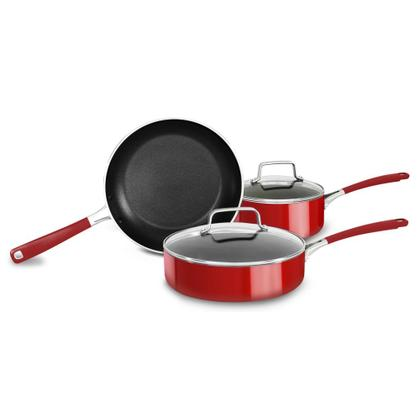 Aluminum Nonstick 5-Piece Cookware Set - Empire Red