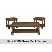 8000T - 3-Pack Tables