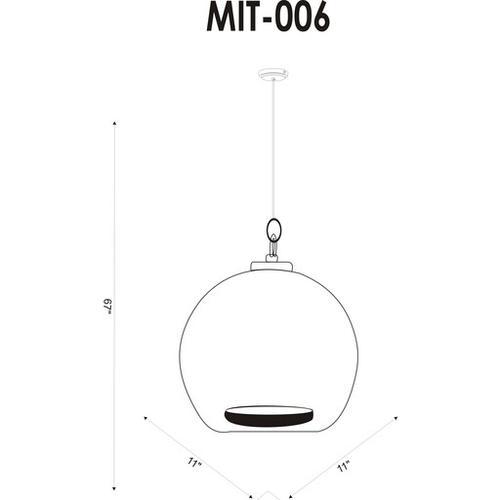 """Mist MIT-006 10""""H x 11""""W x 11""""D"""