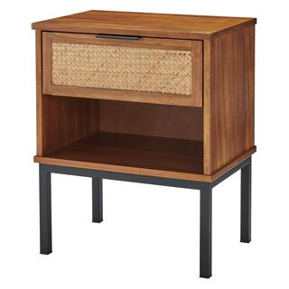 See Details - Caine Rattan Night Stand/ Side Table, Brown