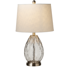 Smoke Grey Faceted Table Lamp. 60W Max.